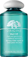 Parfémy, Parfumerie, kosmetika Odličovací lotion na oči - Origins Well Off Fast And Gentle Eye Makeup Remover