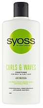 Parfémy, Parfumerie, kosmetika Kondicionér pro kudrnaté a vlnité vlasy - Syoss Curls & Waves Conditioner With Soi Protein