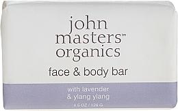 Parfémy, Parfumerie, kosmetika Mýdlo na obličej a tělo - John Masters Organics Lavender Rose Geranium & Ylang Ylang Face & Body Bar