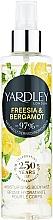 Parfémy, Parfumerie, kosmetika Yardley Freesia & Bergamot - Tělový sprej