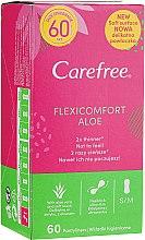 Parfémy, Parfumerie, kosmetika Hygienické vložky, 60 ks - Carefree Flexi Comfort Aloe Extract