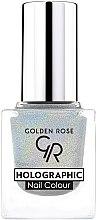 Parfémy, Parfumerie, kosmetika Lak na nehty - Golden Rose Holographic Nail Colour