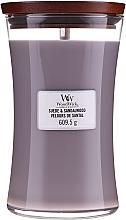 Parfémy, Parfumerie, kosmetika Vonná svíčka ve sklenici - WoodWick Suede & Sandalwood Candle