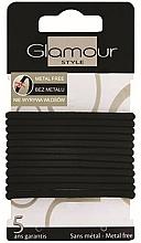 Parfémy, Parfumerie, kosmetika Gumičky na vlasy, 414687, černé - Glamour