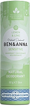 Parfémy, Parfumerie, kosmetika Deodorant Citron a limetka (karton) - Ben&Anna Natural Deodorant Sensitive Lemon & Lime