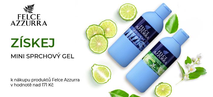 K nákupu produktů Felce Azzurra v hodnotě nad 171 Kč získej mini sprchový gel jako dárek