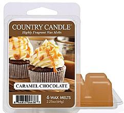 Parfémy, Parfumerie, kosmetika Vosk do aroma lampy - Country Candle Caramel Chocolate Wax Melts