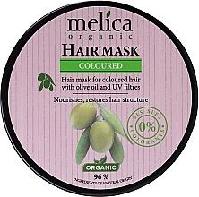 Parfémy, Parfumerie, kosmetika Maska pro barvené vlasy s olivovým olejem a UV filtry - Melica Organic Coloured Olive Oil UV Filters Hair Mask