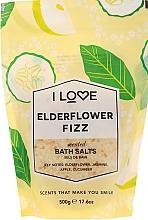 Parfémy, Parfumerie, kosmetika Sůl do koupele Koktejl z bezu - I Love Elderflower Fizz Bath Salt