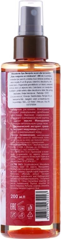 Suchý olej na tělo Softness and shine - ECO Laboratorie Macadamia Spa Nourishing Dry Body Oil — foto N2