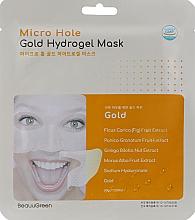 Parfémy, Parfumerie, kosmetika Hydrogelová pleťová maska se zlatem - Beauugreen Micro Hole Gold Energy Hydrogel Mask