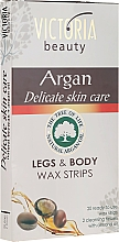 Parfémy, Parfumerie, kosmetika Depilační proužky pro tělo a nohy s arganovým olejem - Victoria Beauty Delicate Skin Care Legs & Body Waxing Strips Argan