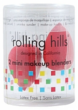 Parfémy, Parfumerie, kosmetika Houbičky na make-up, červené, 2 ks - Rolling Hills 2 Mini Makeup Blenders