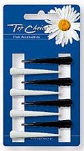 Parfémy, Parfumerie, kosmetika Pinety na vlasy malé 8 ks, černé s bílými - Top Choice