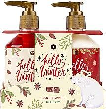 Parfémy, Parfumerie, kosmetika Sada - Accentra Hello Winter Baked Apple Bath Set (sh/gel/250ml + lot/250ml)