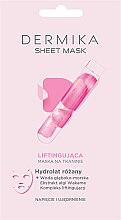 Parfémy, Parfumerie, kosmetika Liftingová maska s hydrolatem růže - Dermika Sheet Mask