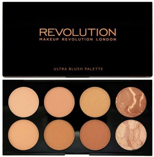 Paleta bronzujících tvářenek, 8 odstínů - Makeup Revolution All About Bronze — foto N1