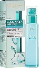 Parfémy, Parfumerie, kosmetika Aqua fluid pro obličej pro normální a suchou pleť - L'Oreal Paris Hydra Genius Aloe Water