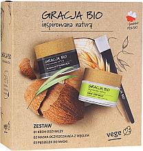 Parfémy, Parfumerie, kosmetika Sada - Gracja Bio Inspired Nature (cr/50ml + mask/50ml + brush/1)