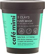 """Parfémy, Parfumerie, kosmetika Maska na vlasy """"3 hlíny"""" - Cafe Mimi Mask"""