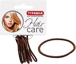 Parfémy, Parfumerie, kosmetika Gumičky do vlasů, elastické, 2 mm, 9 ks, hnědé - Titania
