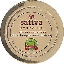 Parfémy, Parfumerie, kosmetika Bylinný krém proti vráskám - Sattva Ayurveda Anti-Wrinkle Cream