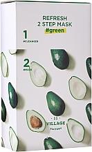 Parfémy, Parfumerie, kosmetika Dvoufázová maska s avokádo - Village 11 Factory Refresh 2-Step Mask Green