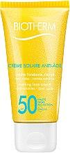 Parfémy, Parfumerie, kosmetika Opalovací krém na obličej s efektem proti stárnutí - Biotherm Sun Protection Creme Solaire Anti-age SPF 50