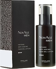 Parfémy, Parfumerie, kosmetika Hydratační krém-gel proti stárnutí pleti - Oriflame NovAge Men Intense Anti-Aging Face Gel Lotion