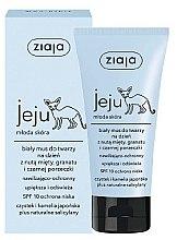 Parfémy, Parfumerie, kosmetika Bílá krémová pěna na obličej pro denní použití - Ziaja Jeju Mousse SPF10