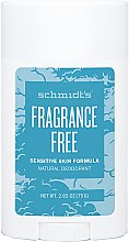 Parfémy, Parfumerie, kosmetika Přírodní deodorant - Schmidt's Deodorant Sensitive Skin Fragrance Free Stick