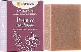 """Parfémy, Parfumerie, kosmetika Bio mýdlo """"Myrt a červené hrozny"""" - La Saponaria Bio Sapone"""
