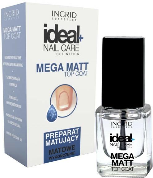 Matný vrchní lak na nehty - Ingrid Cosmetics Ideal+ Nail Care Definition Mega Matt Top Coat — foto N1