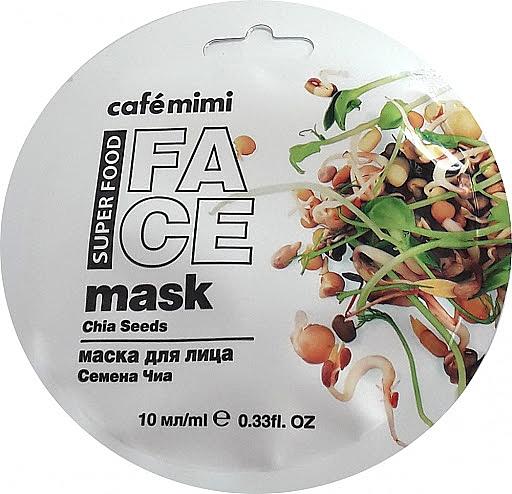 Pleťová maska Chia a olivy - Cafe Mimi Face Mask