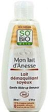 Parfémy, Parfumerie, kosmetika Jemné odličovací mléko s oslím mlékem - So'Bio Etic Gentle Make-up Remover