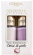 Parfémy, Parfumerie, kosmetika Sada - L'Oreal Paris Color Riche Nail Polish (nail/polish/2x5ml)  (2 x 5 ml)