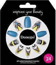 Parfémy, Parfumerie, kosmetika Sada umělých nehtů s lepidlem, 3051 - Donegal Express Your Beauty