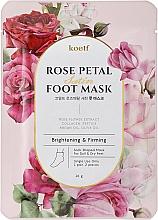 Parfémy, Parfumerie, kosmetika Hydratační maska-ponožky na nohy - Petitfee&Koelf Rose Petal Satin Foot Mask
