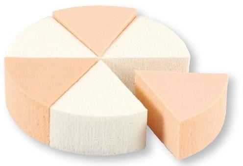 Houbičky na líčení, 35821, bílé a béžové, 6 ks - Top Choice Foundation Sponges