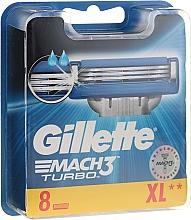 Parfémy, Parfumerie, kosmetika Vyměnitelné kazety na holení, 8 ks. - Gillette Mach3 Turbo