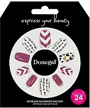 Parfémy, Parfumerie, kosmetika Sada umělých nehtů s lepidlem, 3057 - Donegal Express Your Beauty