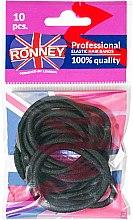 """Parfémy, Parfumerie, kosmetika Gumičky na vlasy """"R4/B/10"""",černé, 10 ks - Ronney Professional"""