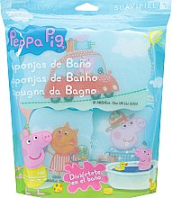 Parfémy, Parfumerie, kosmetika Sada koupelních hub Prasátko Peppa 3ks, cesta - Suavipiel Peppa Pig Bath Sponge