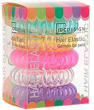 Parfémy, Parfumerie, kosmetika Sada pestrobarevných gumiček do vlasů, silikonové, 5ks - IDC Institute Design Hair Bands Pack