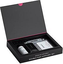 Parfémy, Parfumerie, kosmetika Sada - Semilac Set Double Flex Acrylgel Set Clear (nail/gel/60ml + tips/120pcs + gel/liquid/125ml + acc.)