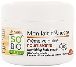 Parfémy, Parfumerie, kosmetika Výživný tělový krém s oslím mlékem - So'Bio Etic Nourishing Body Cream