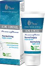 Parfémy, Parfumerie, kosmetika Pleťový krém - Ava Laboratorium Acne Control Professional No More Nightmares Normalising Night Cream