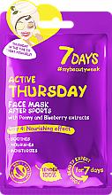 Parfémy, Parfumerie, kosmetika Pleťová maska po sportu Aktivní čtvrtek - 7 Days Active Thursday