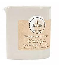 Parfémy, Parfumerie, kosmetika Masážní svíčka Výživný kokos - Flagolie Coconut Nutrition Massage Candle