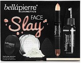 Parfémy, Parfumerie, kosmetika Sada - Bellapierre Face Slay Kit Fair/Medium (stick/8.6g+powder/6.5g+spray/70ml+sponge/1pcs)
